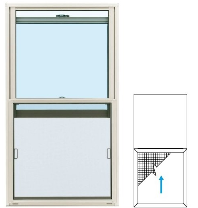 「上げ下げ窓」に網戸を付ける