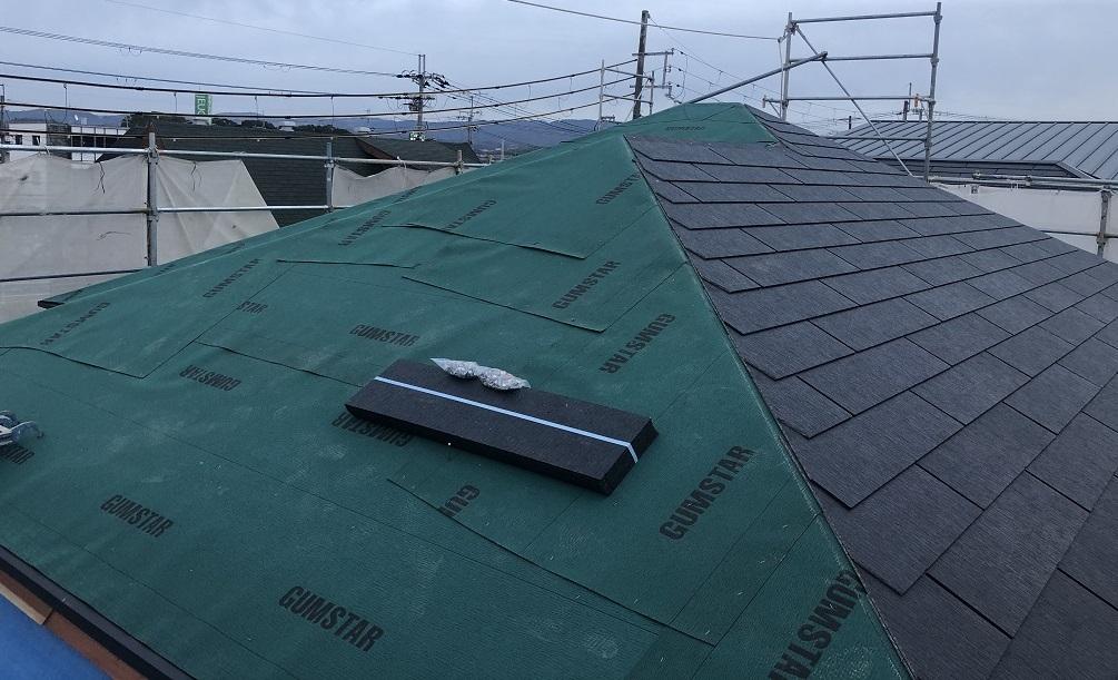 一建設の建売の屋根材はどんなものを使っている【スレート屋根工事中】