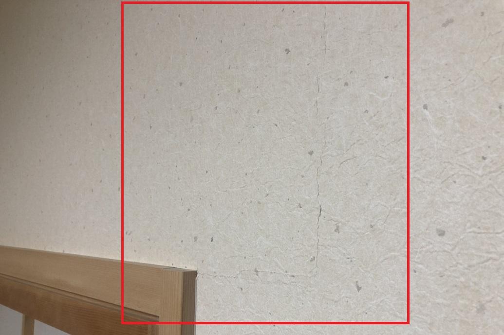 よくあるクロス・壁紙のひび・亀裂